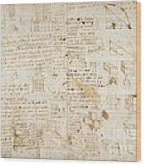 Notes By Leonardo Da Vinci, Codex Arundel Wood Print