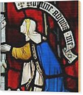 Religious Stained Glass Window Wood Print