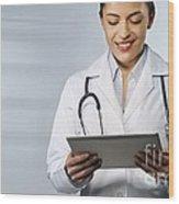Telemedicine, Conceptual Image Wood Print