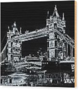 Tower Bridge Art Wood Print
