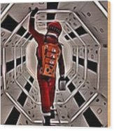 2001 A Space Odyssey Wood Print