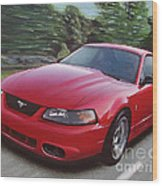 2001 Ford Mustang Cobra Wood Print