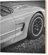 2002 Chevrolet Corvette Z06 Bw Wood Print