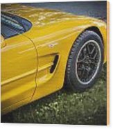 2002 Chevrolet Corvette Z06 Wood Print