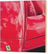 2003 Ferrari Enzo Hood Emblem Wood Print