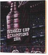 2004 Champs Wood Print