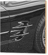 2002 Corvette Ls1 5 7ltr B W Wood Print