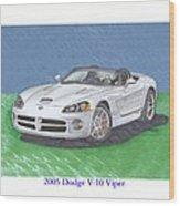 2005 Dodge V-10 Viper Wood Print
