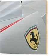 2005 Ferrari Fxx Evoluzione Emblem Wood Print