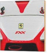 2005 Ferrari Fxx Evoluzione Hood Emblem Wood Print