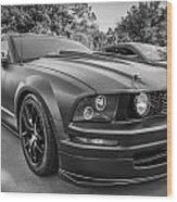 2005 Ford Mustang Convertible Bw  Wood Print