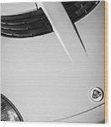 2005 Lotus Elise Hood Emblem -0125bw Wood Print