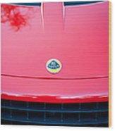2006 Lotus Grille Emblem -0012c Wood Print