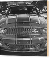 2007 Ford Mustang Shelbygt 500 427 Bw Wood Print