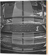 2007 Ford Shelby Gt 500 Mustang Bw Wood Print