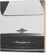 2009 Spyker C8 Laviolette Lm85 Grille Emblem Wood Print
