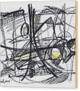2010 Abstract Drawing 27 Wood Print
