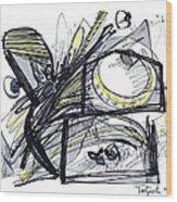 2010 Abstract Drawing 28 Wood Print