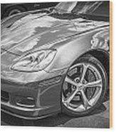 2010 Chevy Corvette Grand Sport Bw Wood Print