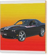 2010 Dodge Challenger Wood Print