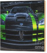 2010 Dodge Viper Acr Wood Print