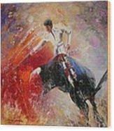 2010 Toro Acrylics 05 Wood Print