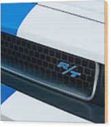 2011 Dodge Challenger Rt Grille Emblem Wood Print by Jill Reger