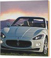 2011 Maserati Gran Turismo Convertible I Wood Print