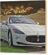 2011 Maserati Gran Turismo Convertible II Wood Print