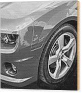 2012 Chevy Camaro Ss Bw Wood Print
