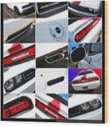 2012 Dodge Challenger-white-1 Wood Print