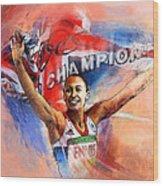 2012 Heptathlon Olympics Gold Medal Jessica Ennis  Wood Print