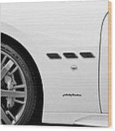 2012 Maserati Gran Turismo S B And W Wood Print