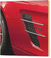 2012 Mercedes-benz Sls Gullwing Wheel Wood Print