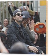 2012 San Francisco Giants World Series Champions Parade - Barry Zito - Img8206 Wood Print