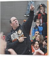 2012 San Francisco Giants World Series Champions Parade - Will The Thrill Clark - Dpp0006 Wood Print