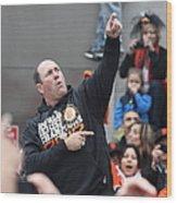 2012 San Francisco Giants World Series Champions Parade - Will The Thrill Clark - Dpp0006 Wood Print