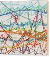 2013 Abstract Drawing #7 Wood Print