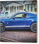 2013 Ford Mustang Shelby Gt 500  Wood Print