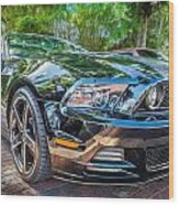 2013 Ford Shelby Mustang Gt 5.0 Convertible Painted   Wood Print