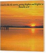 2014 02 25 03 Proverbs 4 18 Wood Print