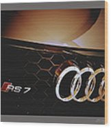 2014 Audi Rs7 Logo Wood Print