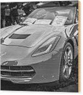 2014 Chevrolet Corvette C7 Bw  Wood Print