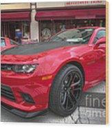 2014 Chevy Camaro Wood Print