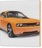 2014 Dodge Challenger Muscle Car Wood Print