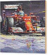 2014 Ferrari F14t Fernando Alonso  Wood Print
