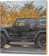 2014 Jeep Wrangler Sport Wood Print