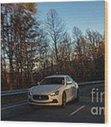 2014 Maserati Ghibli Sq4 Wood Print