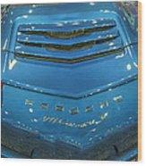2014 Porsche 911 Carrera S Blue Wood Print