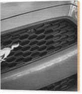2015 Ford Mustang Prototype Grille Emblem -0092bw Wood Print